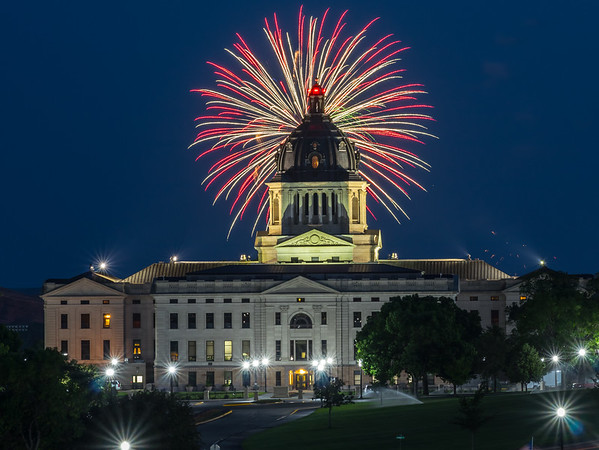 Fireworks over the State Capitol