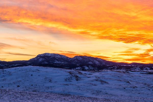 Sunset over Crow Peak