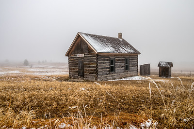Foggy Day at the High Plains Western Heritage Center