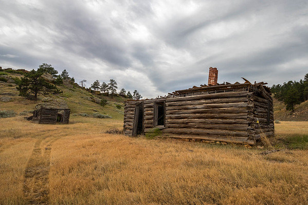 Old Buildings in Red Canyon near Edgemont
