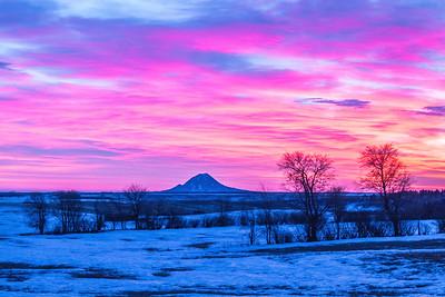 Sunrise over Bear Butte