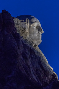 Profile of Mount Rushmore