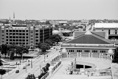 Milwaukee Cityscape on Black and White 35mm Film Photograph 122