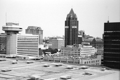 Milwaukee Cityscape on Black and White 35mm Film Photograph 121