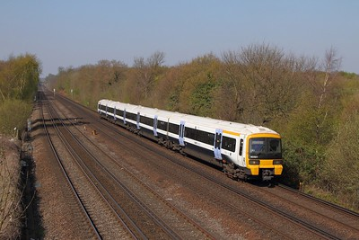 465921+465928 on the 2K16 London Victoria to Dover Priory at Swanley on the 8th April 2017