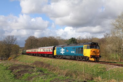 50049 on the 1600 East Grinstead to Sheffield Park at Freshfield on the 1st April 2017