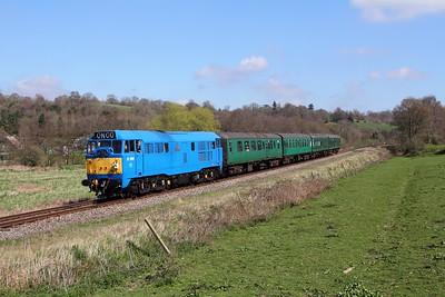 31289 on the 1155 Tunbridge Wells to Eridge at Pokehill farm on the 2nd April 2017