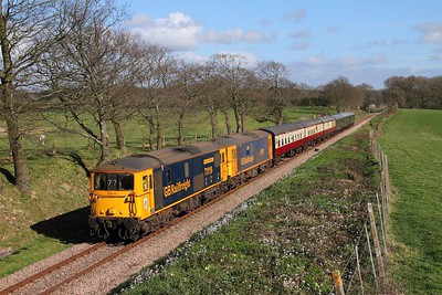 73119+73107 on the 1610 Sheffield Park to East Grinstead at Freshfield on the 1th April 2017 1