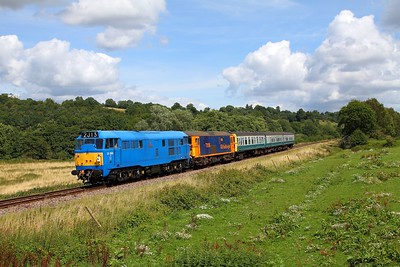31289+73136 on the 2J13 1245 Tunbridge Wells to Eridge at Pokehill farm on the 6th August 2017