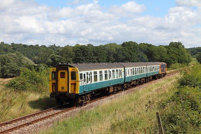 1497+73136 on the 2T08 1115 Eridge to Tunbridge Wells departing Groombridge on the 4th August 2017