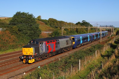 37800+375820 on the 5Q58 Derby Litchurch Lane to Ramsgate at Old Linslade on the 20th August 2017