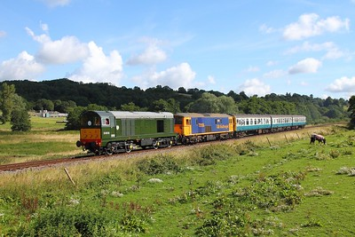 D8059+73136 on the 2J05 0945 Tunbridge Wells to Eridge at Pokehill farm on the 6th August 2017 1