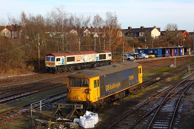73109+66721 at Tonbridge west yard on the 9th December 2017