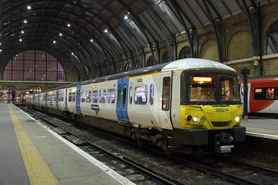 365514 on the 1P24 2010 London Kings Cross to Peterborough at KIngs Cross on the 9th February 2017