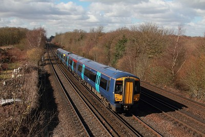 375627 on the 2N30 1122 London Victoria to Canterbury West at Swanley on the 24th Feb 17