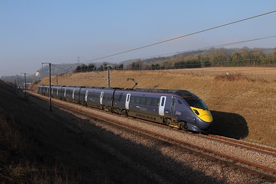 395021 on the 1J38 1409 St Pancras to Margate between Nashenden and Maidstone on the 13th February 2017