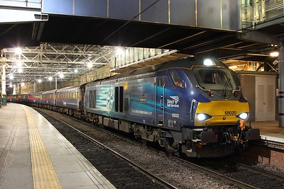 68020 arrived at Edinburgh Waverley with 2K14 1816 Glenrothes with Thornton to Edinburgh, to work 5K14 to Motherwell on the 1st December 2016