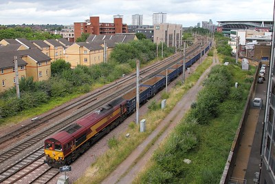 66095 on the 6M05 Barrington to Wembley at Arsenal on the 3rd July 2017