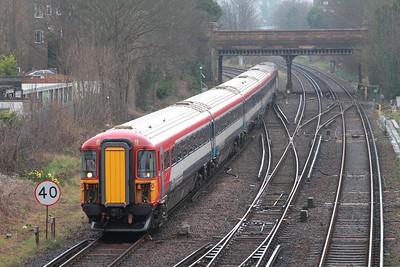 442402+73202 on the 1Z45 1403 Brighton to Brighton via Preston Park and Hove Yard, arriving Hove Yard on 12th March 2017