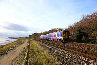 158797 on the 2C26 1242 Doncaster to Hull at Hessle on the 18th November 2017