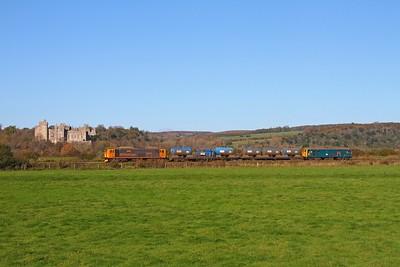 73213 tnt 73201 on the 3W91 0920 Tonbridge west yard circular via Havant and Bognor Regis at Arundel Castle on the 5th November 2017