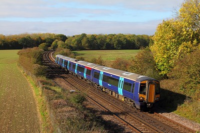 377506 on the 2N38 1322 London Victoria to Canterbury West at Westwell near Ashford on the 14th October 2017