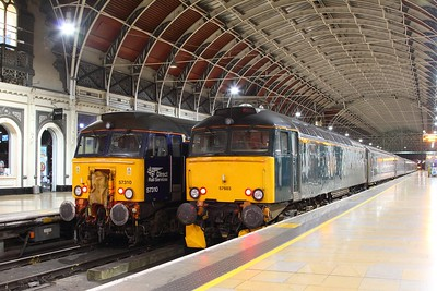 57310 on the 5C99 OOC to PAD for 57605 to take as 1C99 to PZ next to 57603 having arrived with 5Z96 1700 Penzance to Paddington at London Paddington on the 13th October 2017