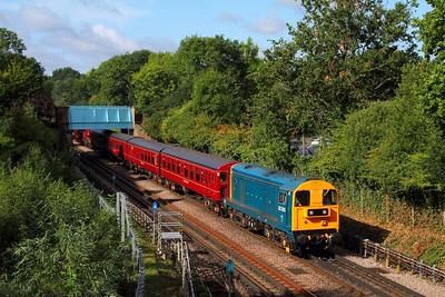 20205+4 TC set+20142+9466+Steam Loco Met No 1 at Ruislip woking 0915 Ruislip Depot to Harrow-on-the-Hill on the 9th September 2017