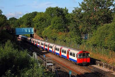 Piccadilly line stock No 242 heads southbound at Ruislip on the 9th September 2017