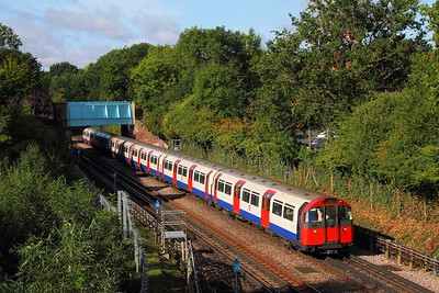 Piccadilly line stock No 143 heads southbound at Ruislip on the 9th September 2017