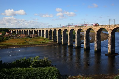 Voyager at Berwick upon Tweed on the 25th August 2018