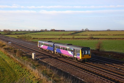 142065 on the 2Y70 0854 Sheffield to York at Colton junction on the 10th December 2018