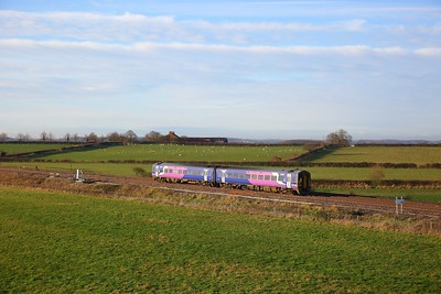 158861 on the 2R06 0910 Hull to York at Colton junction on the 10th December 2018