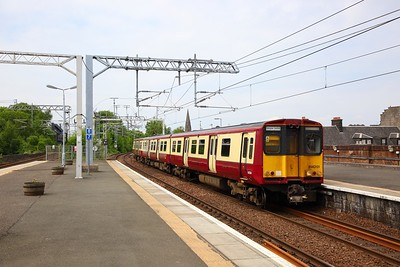 314201 on the 2G38 1208 Gourock to Glasgow Central at Paisley Gilmour Street on the 8th June 2018