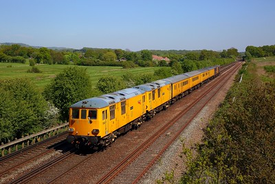 73952+73951 tnt 73961+73965 on the 1Q80 Dollands Moor to Derby RTC at Otford junction on the 5th May 2018 1