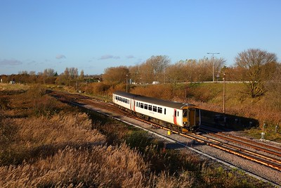156418 on the 2P22 1336 Norwich to Great Yarmouth at Great Yarmouth on the 13th November 2018