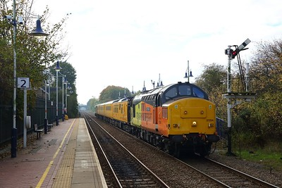 37254+37025 on the 1Q68 0908 Derby to Derby via Worksop at Creswell on the 20th October 2018