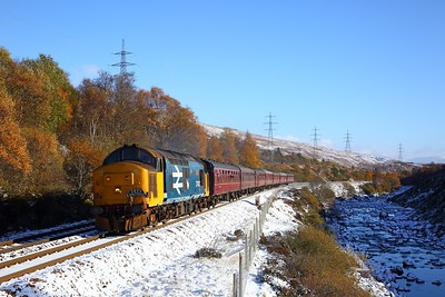 37403 working the 1Z37 Linlithgow to Inverness in Glen Gary on the 27th October 2018