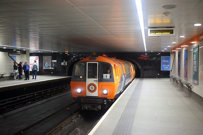 112 with an Outer circle service at Govan on the Glasgow Subway on the 22nd September 2018