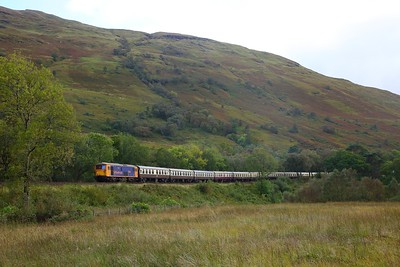 73141 tnt 73107+56113 on the 1Z31 1257 Fort William to Inverkeithing at Arrochar on the 22nd September 2018