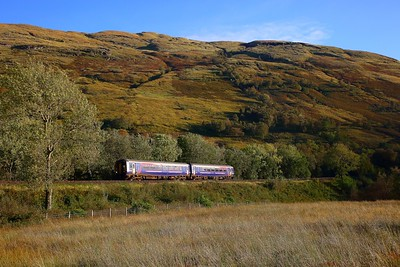 156453 on the 1Y29 1638 Glasgow Queen Street to Oban at Arrochar on the 22nd September 2018