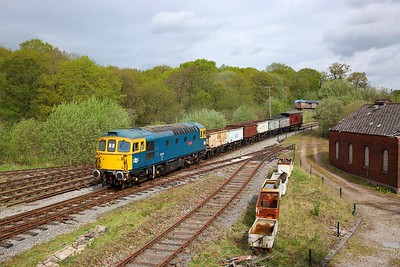 33102 heads towards Foxfield Colliery with a mineral train on the 26th April 2019 2