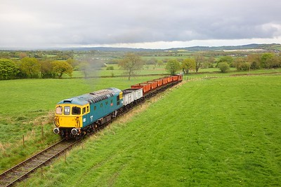 33102 heads up the 1 in 18 incline from Foxfield Colliery on the 26th April 2019