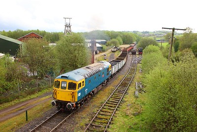 33102 on load 18!! departs Foxfield Colliery during an ERMPS photo charter on the 26th April 2019