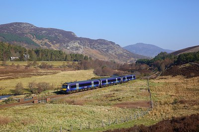 170426 on the 1T98 0844 Inverness to Glasgow Queen Street at Crubenmore on the 22nd April 2019