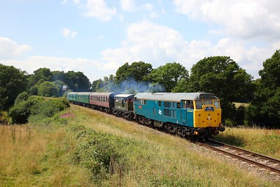 31430 on the 2T12 1315 Eridge to Tunbridge Wells West at Lealands on the 2nd August 2019