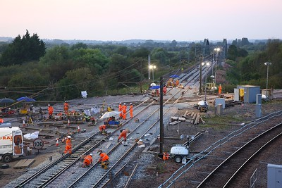 The final stages of the major upgrade works at Newark flat diamond crossing on the 26th August 2019 1