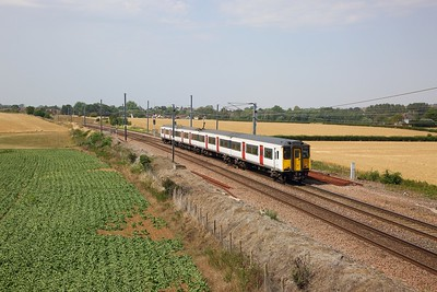 317347 on the 2H39 1414 Cambridge North to Cambridge North at Great Chesterford on the 25th July 2019