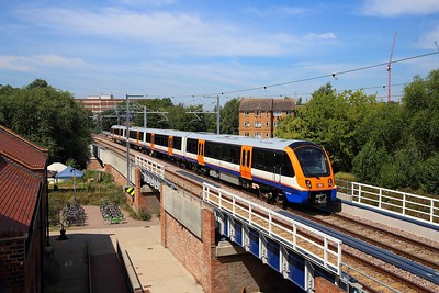 710263 on the 2J41 1120 Gospel Oak to Barking at Walthamstow Wetlands on the 24th July 2019