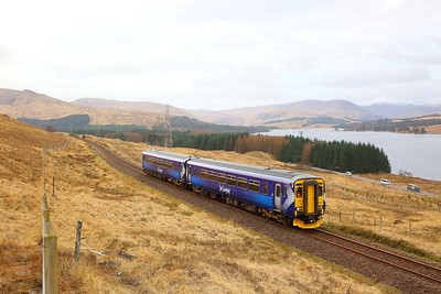 156450 on the 1Y41 1021 Crianlarich to Mallaig at Achallader on the 25th March 2019